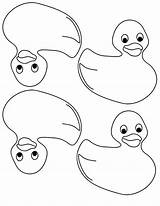 Rubber Coloring Ducky Sheet sketch template