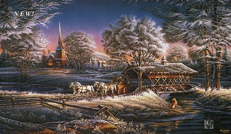 Thomas Kinkade Christmas Tree Village by Terry Redlin S New Christmas Print Is Quot Morning Frost Quot