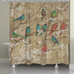 Birds and Blossoms Shower Curtain from Laural Home S h o