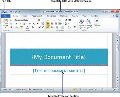 creating word templates use templates in word 2010