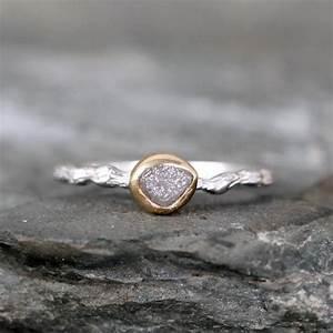 Twig Raw Diamond Engagement Ring - Tree Branch Rings ...