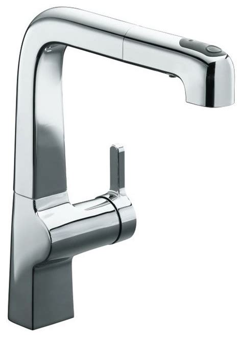contemporary kitchen faucets kohler evoke pullout kitchen faucet contemporary