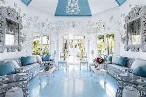 Mavi beyaz salon dekorasyonları Moda Dekorasyonlar
