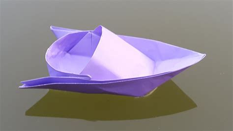 Origami Speed Boat by How To Make A Paper Boat Origami Speed Boat