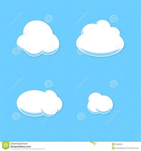 Grupo Cômico Da Nuvem Estilo Dos Desenhos Animados