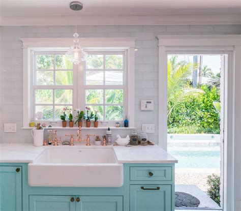 pendant lights kitchen sink custom kitchen with turquoise cabinets home bunch 7417