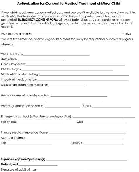 medical form  child medical form templates
