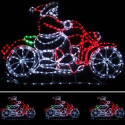 large animated santa rope lights silhouette outdoor wall decoration ebay