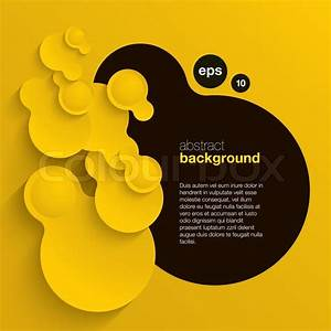 Black And Yellow Vector Abstract Background Composed Of
