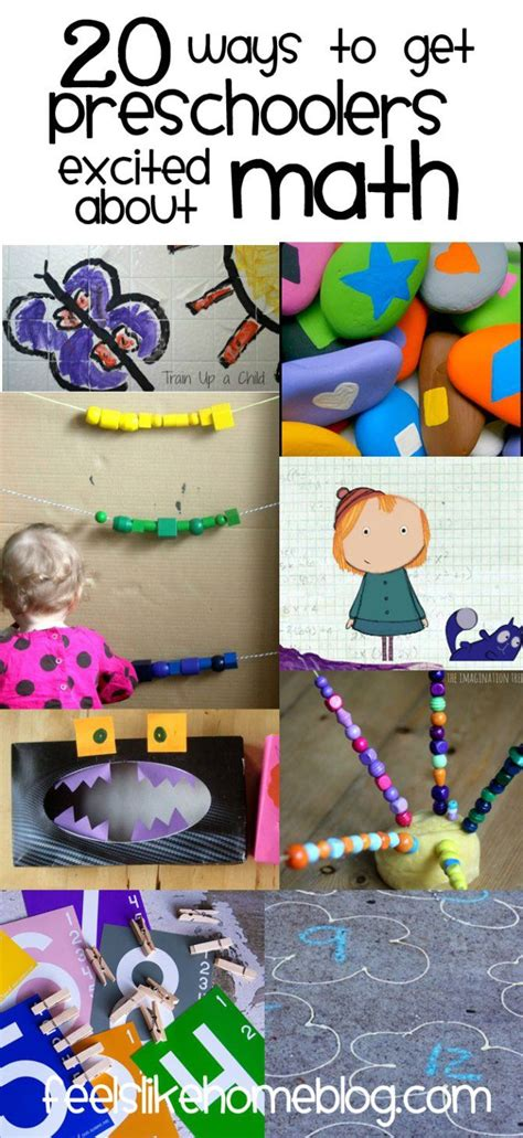 20 Ways To Get Preschoolers Excited About Math  Craft Ideas  Pinterest  Förskola, Lärare And Barn