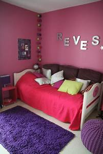 deco chambre fille fushia et gris With chambre gris et fushia