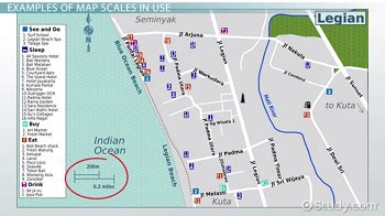 map scale definition types examples