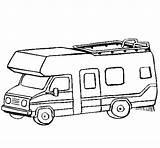 Caravan Coloring Camping Camper Colouring Pages Rv Colored Wheel Coloringcrew 5th Fifth Colorear sketch template