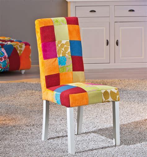 tissu chaise chaise de salle à manger design en tissu patchwork