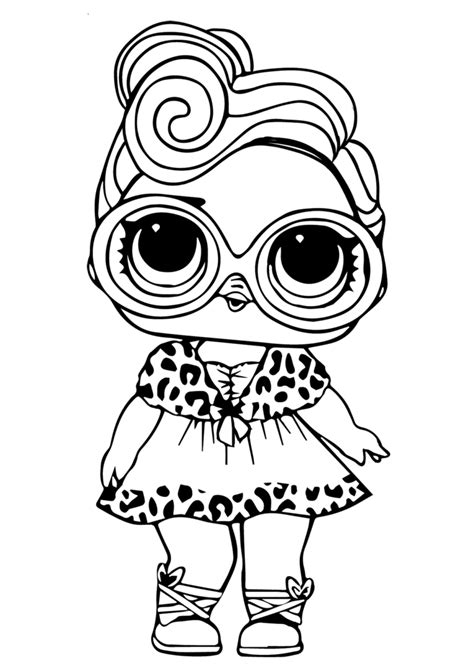 printable lol surprise dolls coloring pages