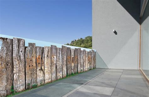 idee de deco pour chambre brise vue trompe l œil barrière en bois par scenolia