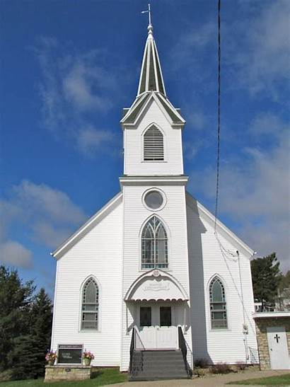 Church Lutheran Iowa Churches Waterville Building Country