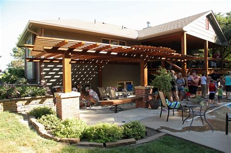 covered deck and pergola addition traditional patio