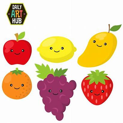 Fruit Clipart Fruits Clip Grapes Cliparts Cartoons