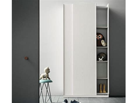 Slim Mirrored Wardrobe by Slim Wooden Wardrobe By Birex