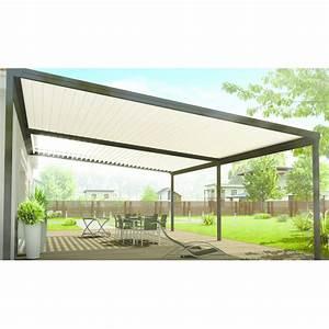 Veranda Rideau Pergola : pergola aluminium lames inclinables 90 v randa rideau ~ Melissatoandfro.com Idées de Décoration