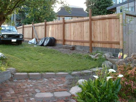 Erecting A Wood Fence On Concrete