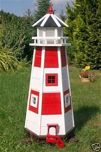 Leuchtturm Für Den Garten : wundersch ner leuchtturm m beleuchtung 1 10m rot weiss f r den garten eur 107 90 picclick de ~ Frokenaadalensverden.com Haus und Dekorationen