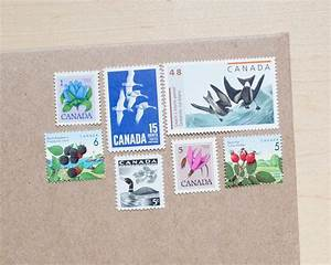 7 canadian vintage curated postage stamps for mailing With stamps for wedding invitations canada