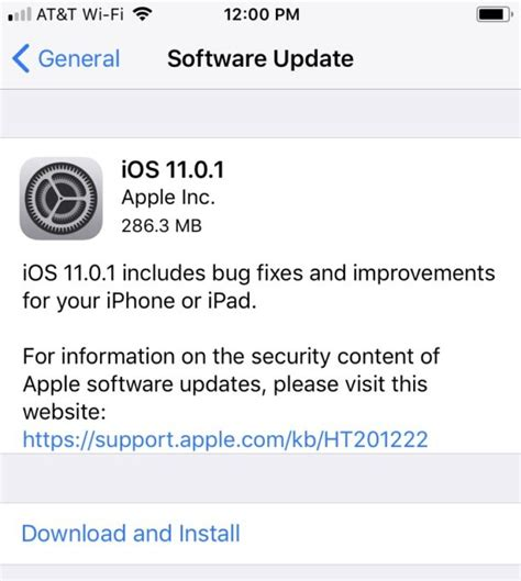 iphone ios update ios 11 0 1 update for iphone available to now