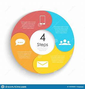 Vector Circle Chart Infographic Template For Cycle Diagram