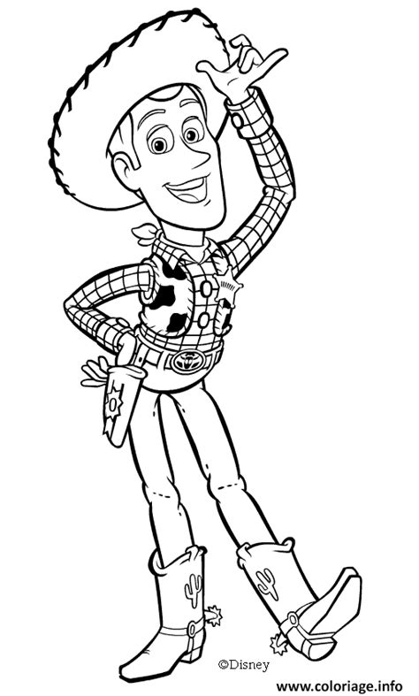 coloriage woody le sheriff dessin