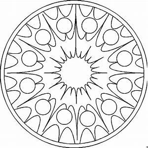 Mandala Sonne Ausmalbild & Malvorlage (Mandalas)