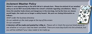 Inclement weather amherst dance academy for Inclement weather policy template