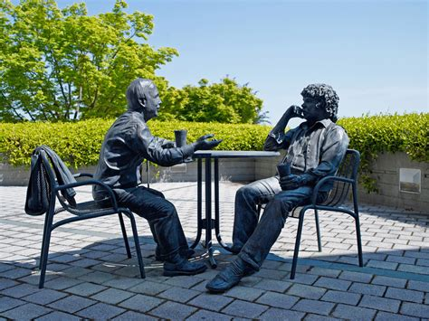 Genentech Founders Statue | Bronze Life-size Sculptures of ...