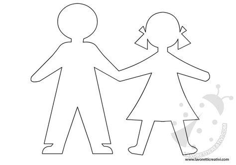 figure da ritagliare per bambini sagome di bambini da ritagliare
