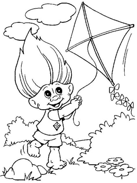 trolls coloring pages  printable trolls coloring pages