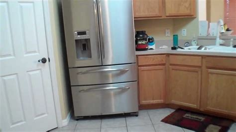 ge profile french door refrigerator armoire styling double freezer  cu ft review youtube