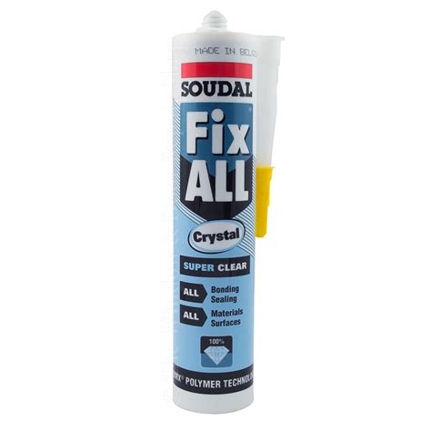 soudal fix all soudal fix all clear strong adhesive sealant