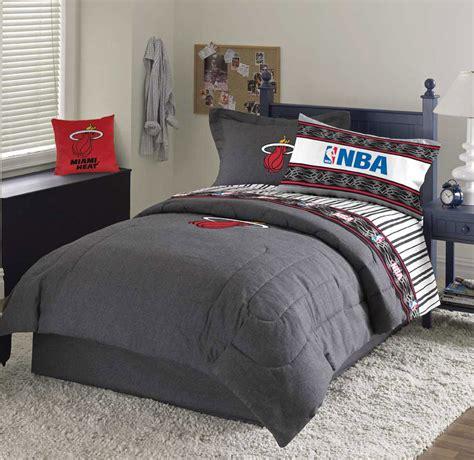 miami heat team denim queen comforter sheet set