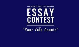 How To Write College Essay Essay Contest Asks Nc Students To Write Why Quot Your Vote
