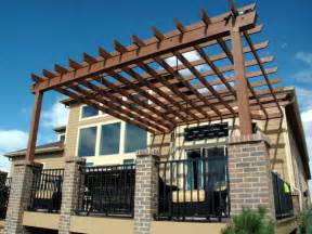 Building Pergola Over Deck how to build a pergola over a deck the home touches