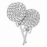 Coloring Lollipop Pages Candy Lollipops Swirl Getcoloringpages Printable sketch template