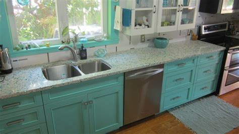 teal kitchen ideas floating blue vetrazzo and teal cabinetry eclectic