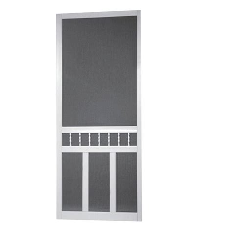 screen doors at home depot screen tight 36 in x 80 in waccamaw solid vinyl white