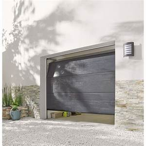 Porte de garage sectionnelle rainures horizontales 200 x for Porte de garage transparente