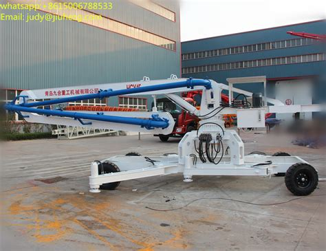 hgd wheel type hydraulic mobile concrete placing boom