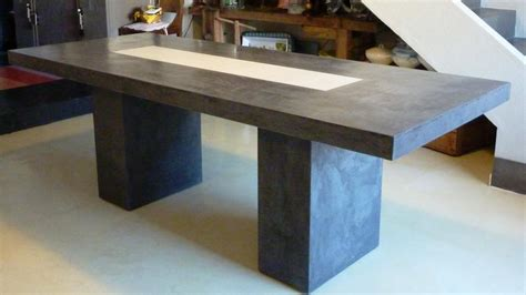 table de salon en beton cire mobilier sur mesure design en b 233 ton cir 233 d 233 coratif