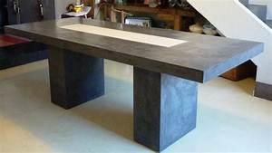 Table Beton Bois : table basse beton cire et bois ~ Premium-room.com Idées de Décoration