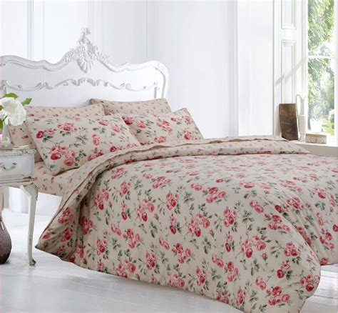Cotton Bed Sheets by Pretty Pink Floral Brushed Cotton Flannelette Duvet Cover