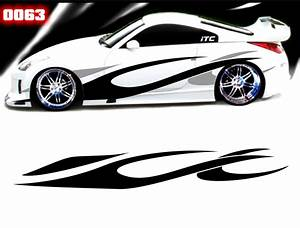 flame style 63 vinyl vehicle graphic kit With vinyl lettering vehicle graphics